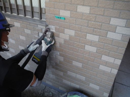 外壁タイル亀裂補修